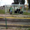 Autobusová zastávka v Snine