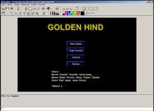Golden Hind - menu