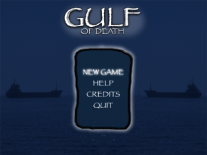 Gulf of Death - menu